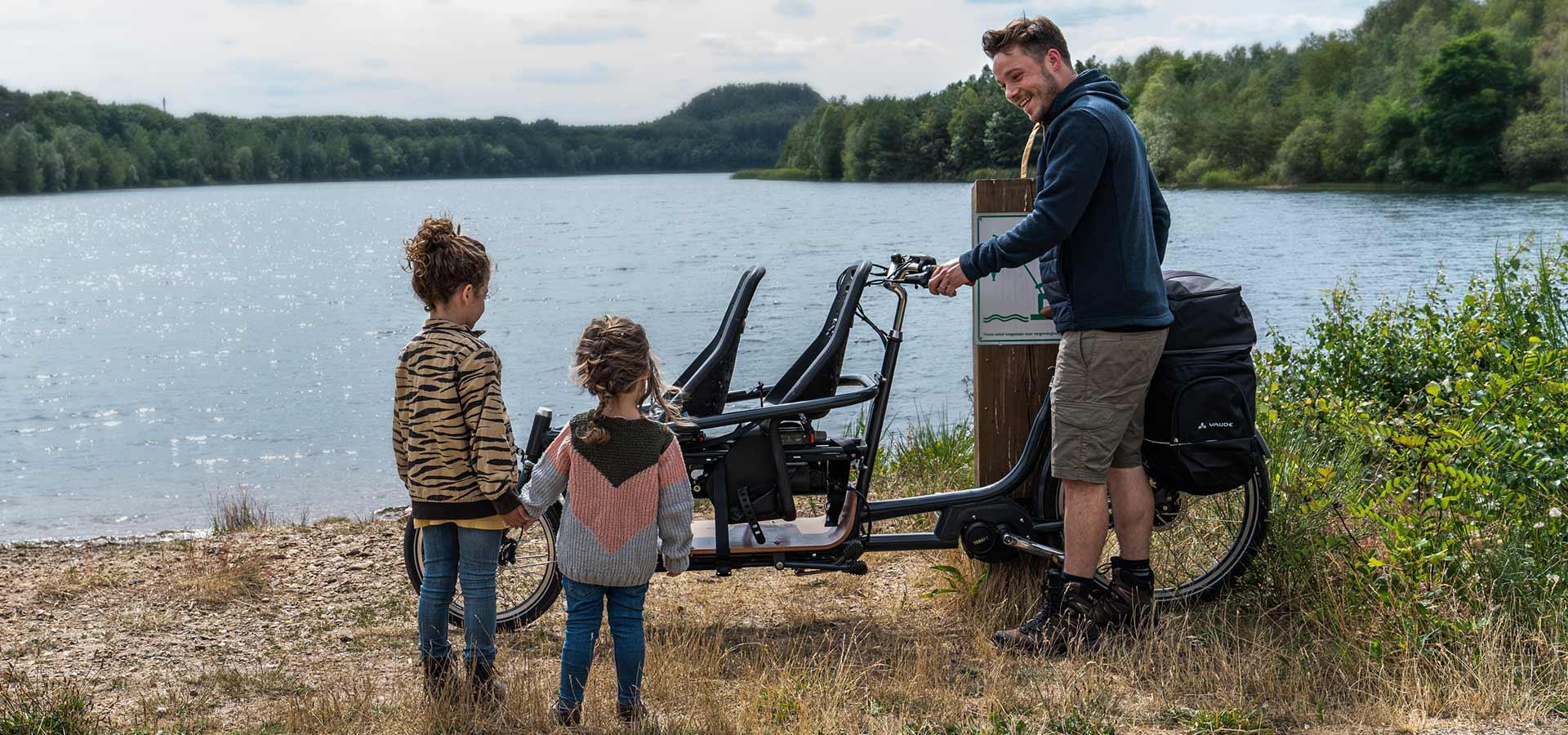 Fahrrad mit Kindersitz vorne - Babboe Slim