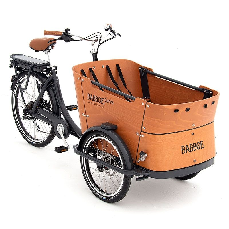 Das moderne elektrische Lastenfahrrad mit drei Rädern