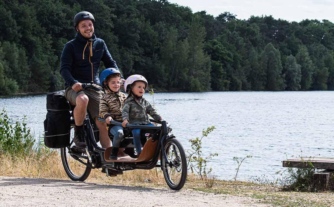 Fahrradurlaub mit Kind und die Kinder immer im Blick