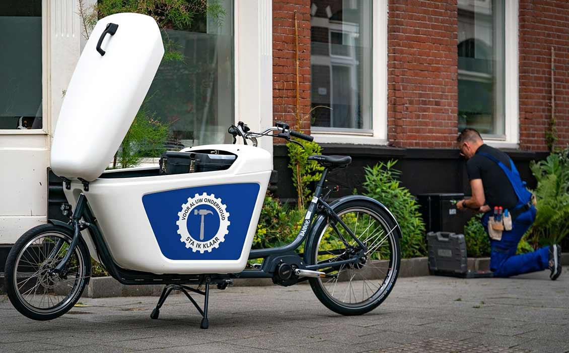 Cargobike mit eigenem Logo